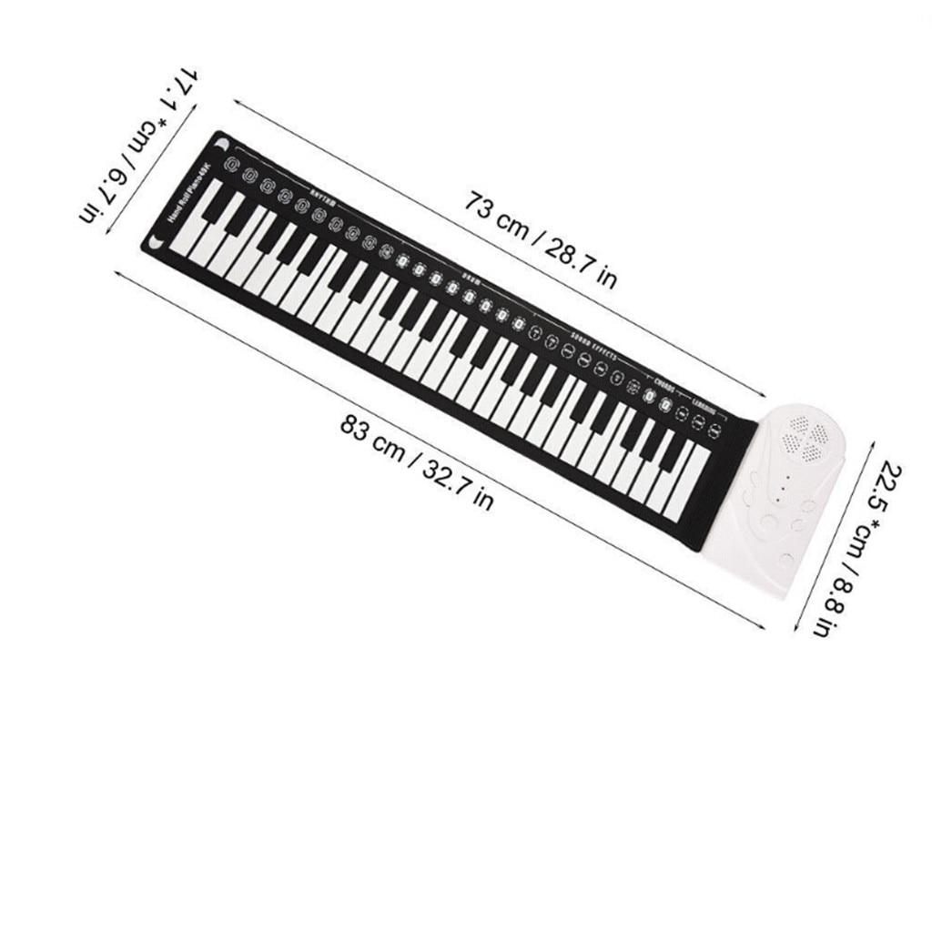 Flexible retrousser clavier électronique souple Piano Portable 49 touches cadeau pour les enfants - 5
