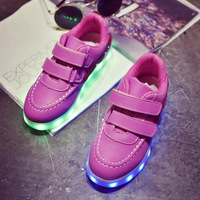 Fashion 7 Colors Kids Sneakers Children S USB Charging Luminous Lighted Sneakers Boy Girls Colorful LED