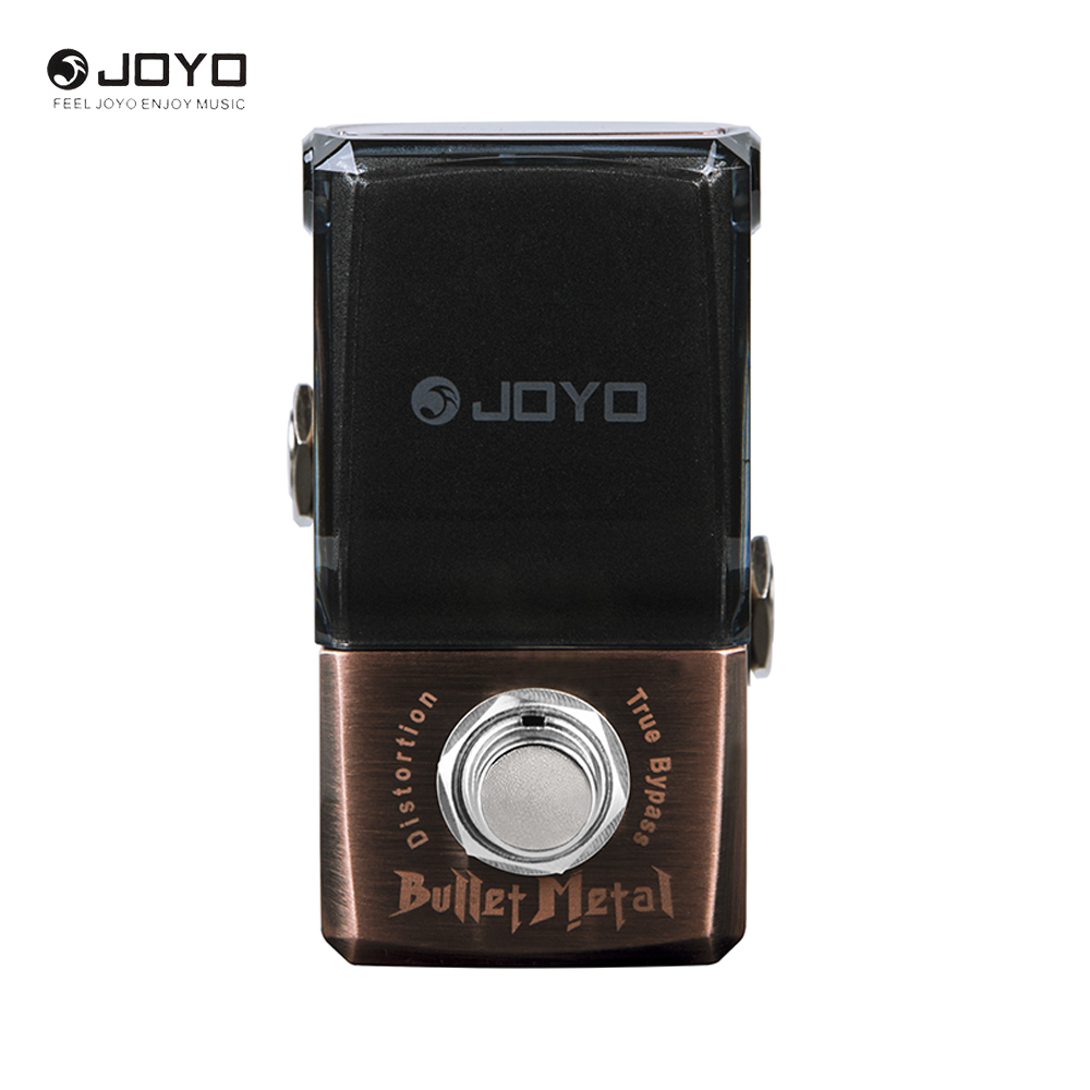 JOYO Ironman Series JF-321 Mini Pedals Bullet Metal Distortion Electric Guitar Pedal True Bypass joyo jf 34 high gain distortion us dream guitar effects with 3 knobs