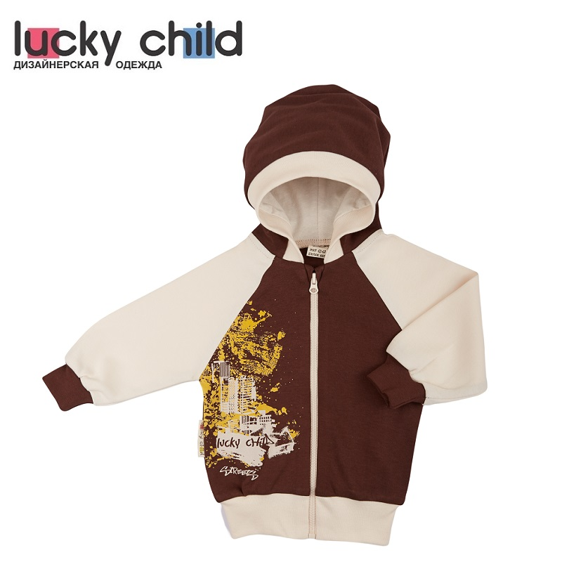 Hoodies & Sweatshirts Lucky Child for girls and boys 16-17 Cardigan Kids Baby clothing Children clothes 2018 europe and the united states spring autumn baby toddler kids girls cotton clothes butterfly cardigan tops pants outfits set