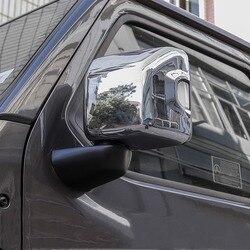 WELKINRY pokrowiec na samochód stylizacji dla Jeep Wrangler JL 2018 ABS chrome błotnik boczny lusterko wsteczne wykończenia