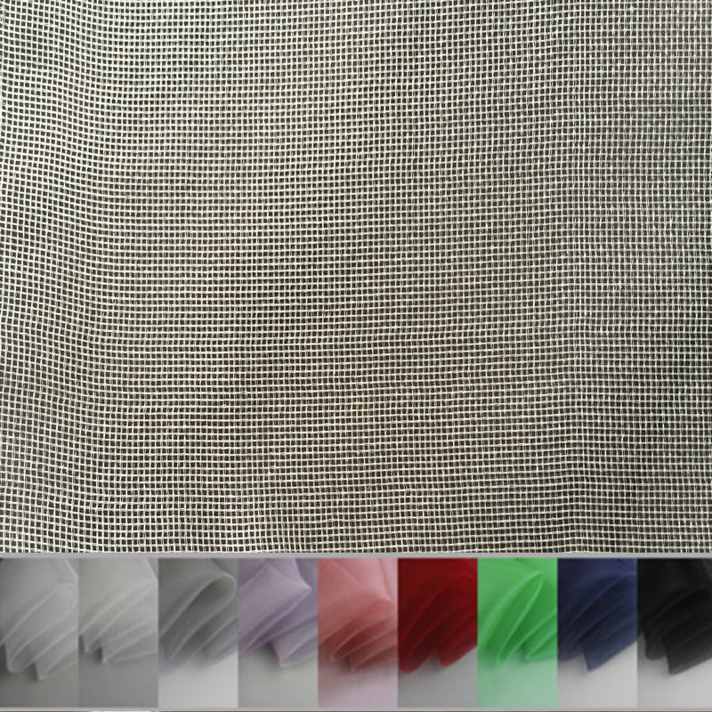 9color 100% Silk Tulle Fabric  Nature Silk For Wedding  Raw Silk HLC136