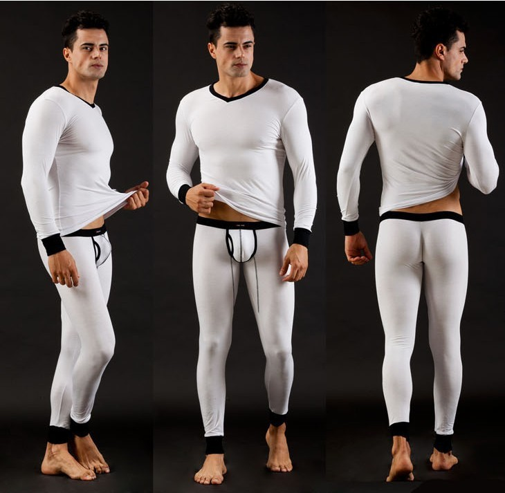 Aliexpress.com : Buy Soft Modal Mens Long John Sets Men's Thermal ...