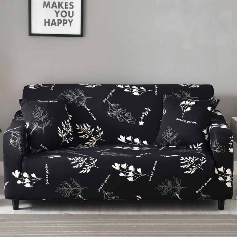 High Elastic Sofa Cover Flower Print