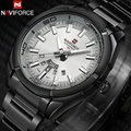 NAVIFORCE brand men watches dress quartz 30M waterproof watches men's stainless steel band auto date wristwatches reloj hombre