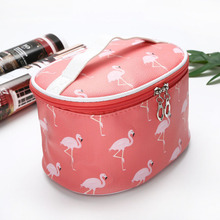 High Quality Makeup Organizer Barrel Shaped Travel Cosmetic Bag Women Makeup Bag Girls Wash Bags High Capacity Storage Bag