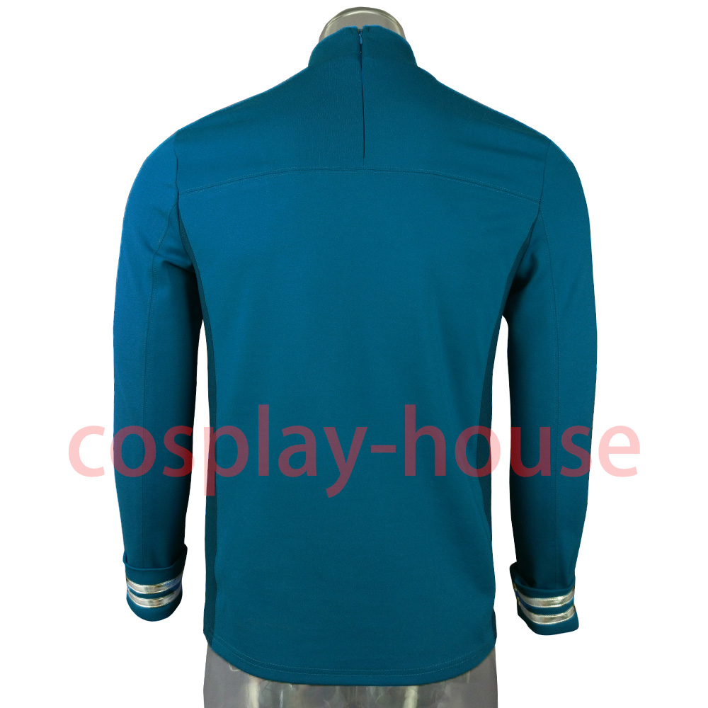Cosplay Star Trek Custume Beyond Blue Captain Kirk Uniform Spock Blue Uniform Badge Scotty Red Halloween Party Prop (4)