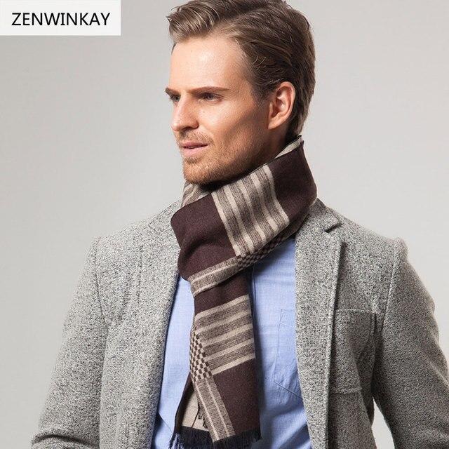 2017 marca hombre Bufandas caliente bufanda hombres bufanda pashmina  invierno bufanda de lana Cashmere foulard moda 2ec899dab41