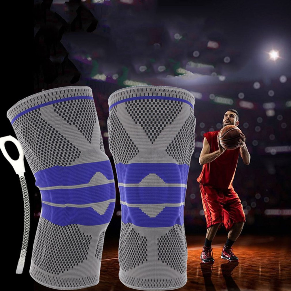 Professional Full Season Breathable Knee Pads Full Knee Protector Elastic Relief Prevent Basketball Knee Support Brace Foot Care