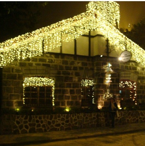 4m120led lights flasher lamp outdoor waterproof socket curtain lighting string christmas decoration lamp indoor ice bar lamp in holiday lighting from lights