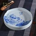 Changwuju в Цзиндэчжэнь ручная роспись синий и белый блюдце роспись Tangshengyao как украшение дома