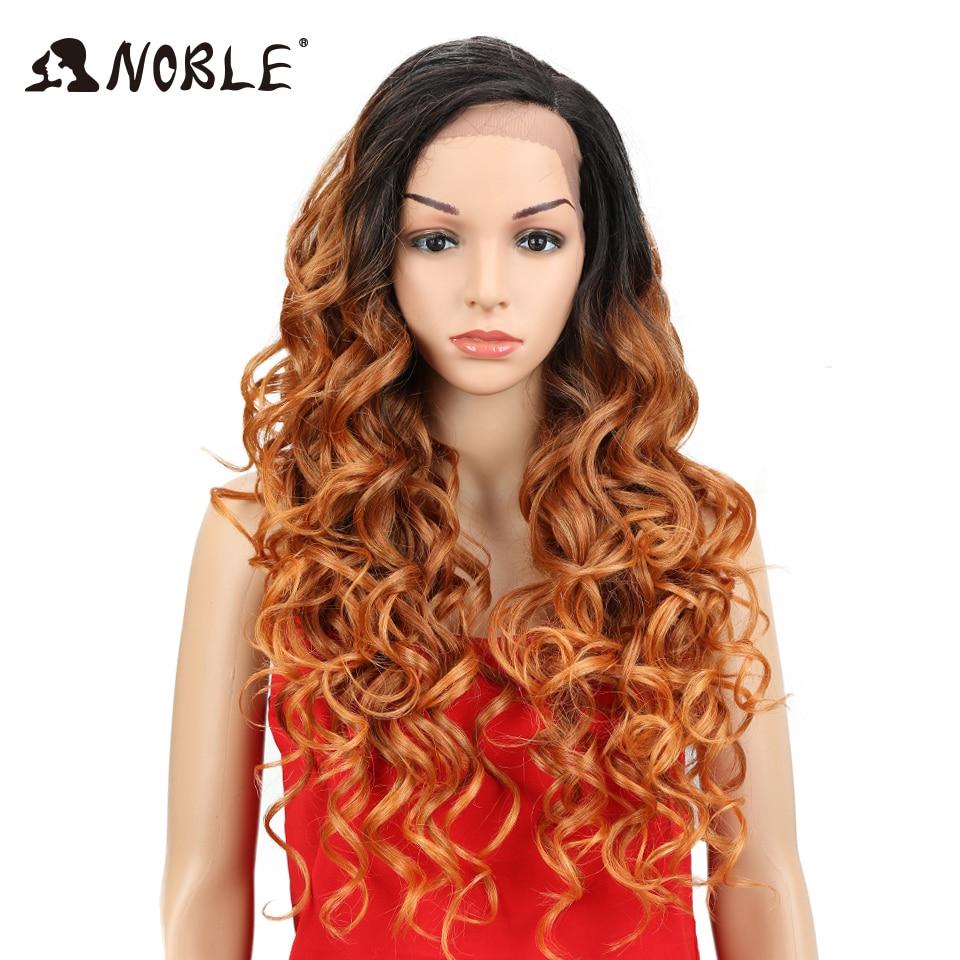 Pelo noble suelto ondulado L peluca delantera del cordón largo 26 - Cabello sintético