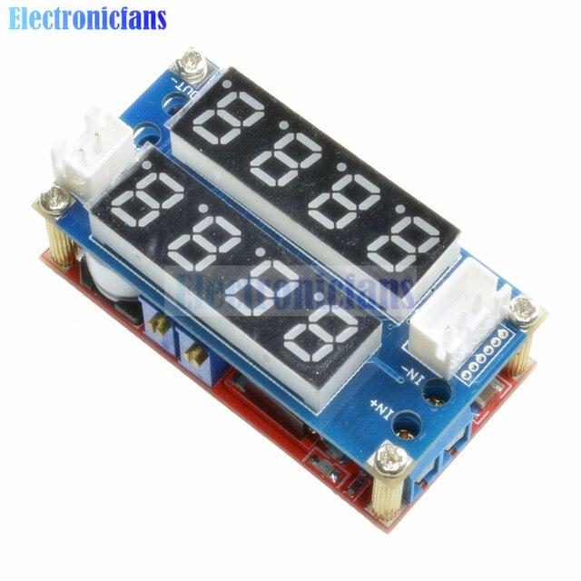 Макс 5А Регулируемый CC CV понижающий модуль заряда цифровой вольтметр Амперметр дисплей светодиодный драйвер для Arduino