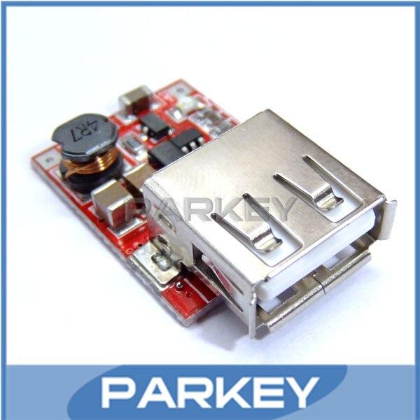 100 ШТ./ЛОТ DC Step-UP Постоянный Ток Напряжение Питания 3 В до 5 В Выход USB Мини зарядное устройство модуль # MD0399