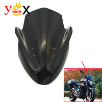 Motorcycle Black ABS Windscreen Windshield Front Deflector Airflow For Kawasaki ER 6N ER6N 2012 2013 2014 12 13 14