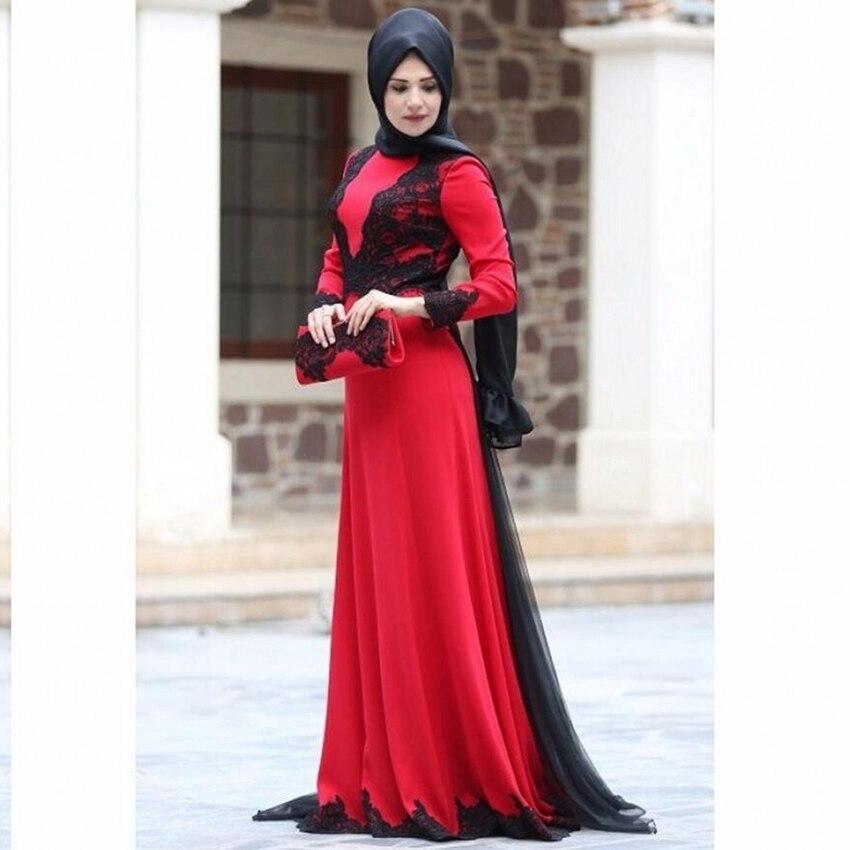 robe de soiree longue hijab evening dresses 2017 saudi With robe longue hijab 2017