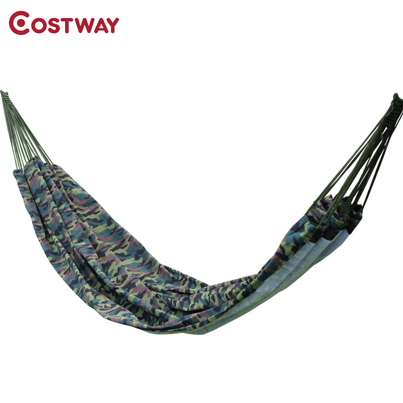 COSTWAY Camouflage Outdoor Portable Two-person Parachute Hammock Travel Camping Sleeping Hamaca Garden Furniture 280x145cm W0267