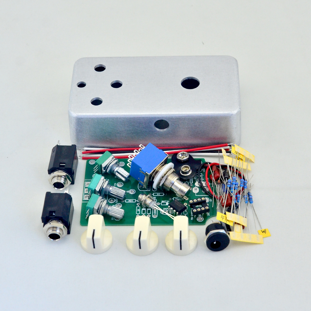 DIY Overdrive Guitar Effect Pedal Kit with 1590B Diecast Aluminum Enclosures for OD1 Pedals Kits new diy analog delay 1 pedal kits with 1590b diecast aluminium box free shipping