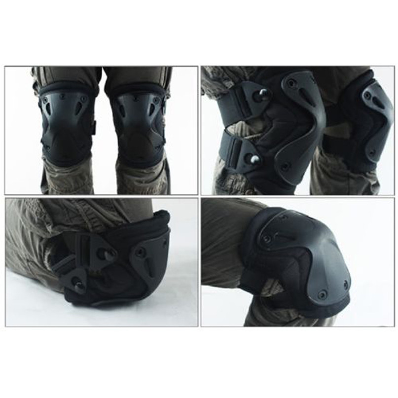 4 Pcs Knee Pads Protector Tactical Knee & Elbow Pads Set Gear Hunting Pad Knee Brace For Sport Cycling Protective Gear Set #3J#F