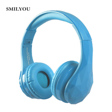 SMILYOU Diamond Tears Wireless Headphone Bluetooth Headset  Headphones Noise Cancelling Mic Handsfree Calling FM  for Phone MP3