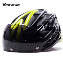 WEST BIKING Cycling Helmet Bicycle Goggles Helmet Road MTB Helmets Gafas De Bicicleta Carretera MTB Bicycle Safety Helmets