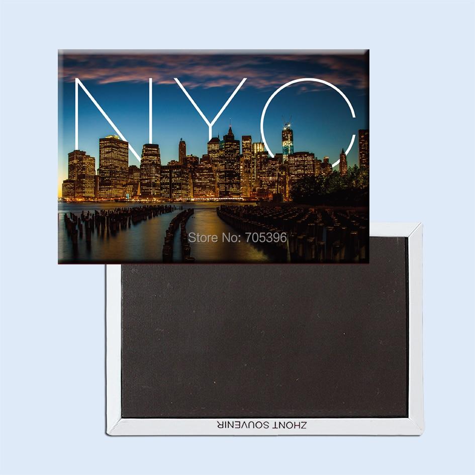 NYC world Wallpaper Travel Gift,Tourist Souvenir Rigid Fridge Magnets 20932