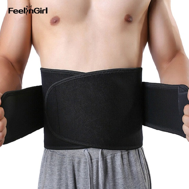 FeelinGirl Men Modeling Belt Unisex Sweat Sauna Waist Trainer Thickening Neoprene Body Shaper Workout Waist Cincher Shapewear