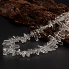 1Strand Imitation Chip White Clear Quarts Crystal Glass Stone Beads For DIY Beads Necklace Pendant Jewelry F1854