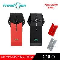 FreedConn 2pc COLO interkom motocyklowy zestaw słuchawkowy Bluetooth do kasku z mikrofonem domofon komunikator słuchawka wymienna powłoka