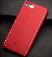 QIALINO Case for iphone 8 plus Luxury Calf Genuine Leather Cover for iphone 8 plus Ultra Slim fashion for 4.7/5.5 inch