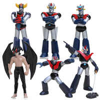 7-9cm Anime Mazinger Z PVC Action Figure Set Toy Super Robot Chogokin Kurogane Finish Collection Model Dolls Mazinger Z Toys