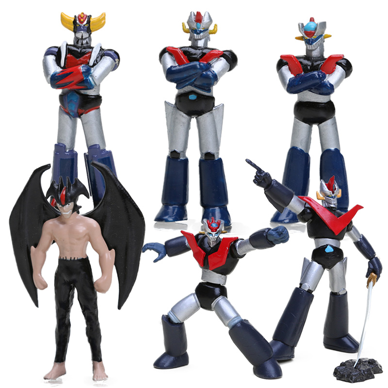 7-9cm Anime <font><b>Mazinger</b></font> <font><b>Z</b></font> PVC Action <font><b>Figure</b></font> Set Toy Super Robot Chogokin Kurogane Finish Collection Model Dolls <font><b>Mazinger</b></font> <font><b>Z</b></font> Toys image