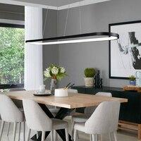 Современные светодиодные подвесные светильники кольцо Белый Черный затемнения для обеденная бар Подвеска светильник suspendu подвесной