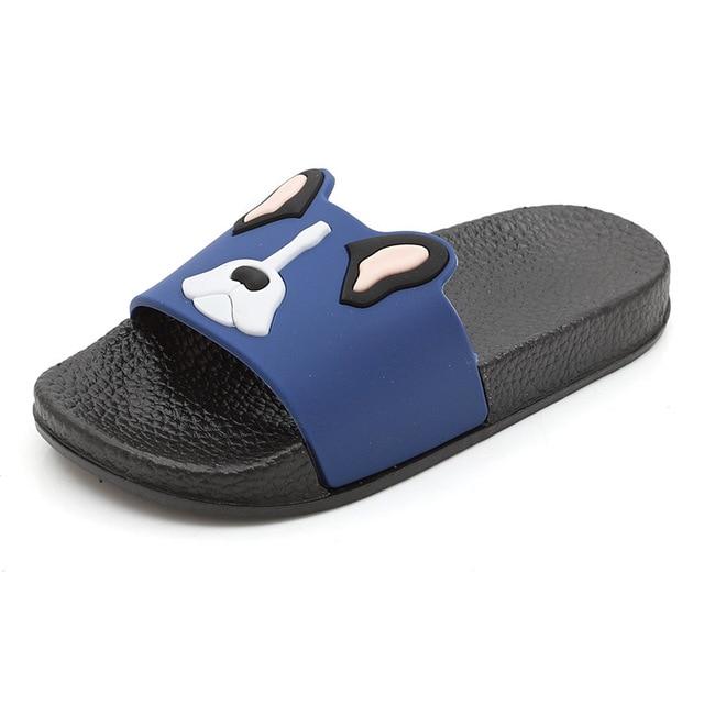 aa53e5158a4e Summer Slippers Kids Boys Sandals for Baby Girls Slippers Children Flip  Flops Animal Indoor Home Shoes PVC Non-slip Soft Bottom