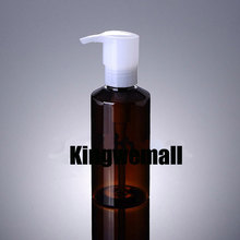 Wholesale 300pcs/lot  Capacity 150ml Empty PET Brown Cleasing Oil Bottle with Press Pump For Cosmetic Packaging XCI39