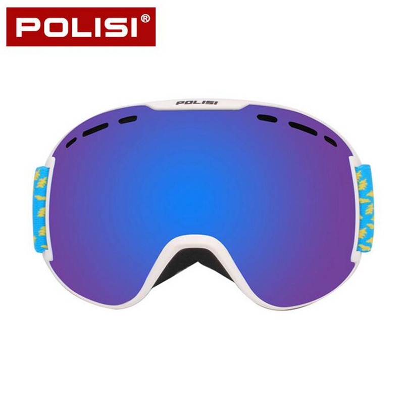 POLISI Winter Ski Snow Snowboard Anti-Fog Goggles Double Layer Anti-Fog Lens Eyewear Men Women UV400 Skiing Skate Glasses polisi brand new designed anti fog cycling glasses sports eyewear polarized glasses bicycle goggles bike sunglasses 5 lenses