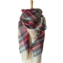 Winter Children's Cashmere Tartan Plaid Scarf Kids Scarves Boys Girls Designer Acrylic Warm Bufandas Blanket Shawls