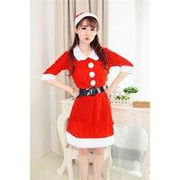 Jinggton oval Yeni moda Lady Kadınlar Uzun Kollu Santa Kardan Adam Baskı Yılbaşı Parti Elbise
