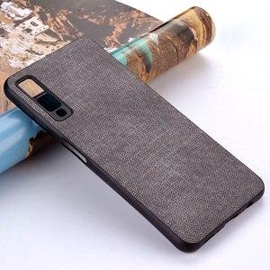 Image 1 - Case for Samsung Galaxy A5 A6 A7 A8 A9 A10 A30 A50 M30 M20 M10 Star 2017 2018 coque case Luxury Fabric Cloth Leather cover funda