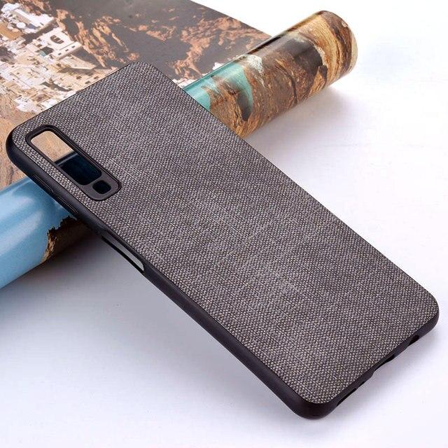 Case for Samsung Galaxy A5 A6 A7 A8 A9 A10 A30 A50 M30 M20 M10 Star 2017 2018 coque case Luxury Fabric Cloth Leather cover funda