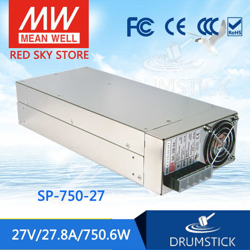 MEAN WELL SP-750-27 27V 27.8A meanwell SP-750 27V 750.6W Single Output Power Supply leading products mean well sp 320 27 27v 11 7a meanwell sp 320 27v 315 9w single output with pfc function power supply