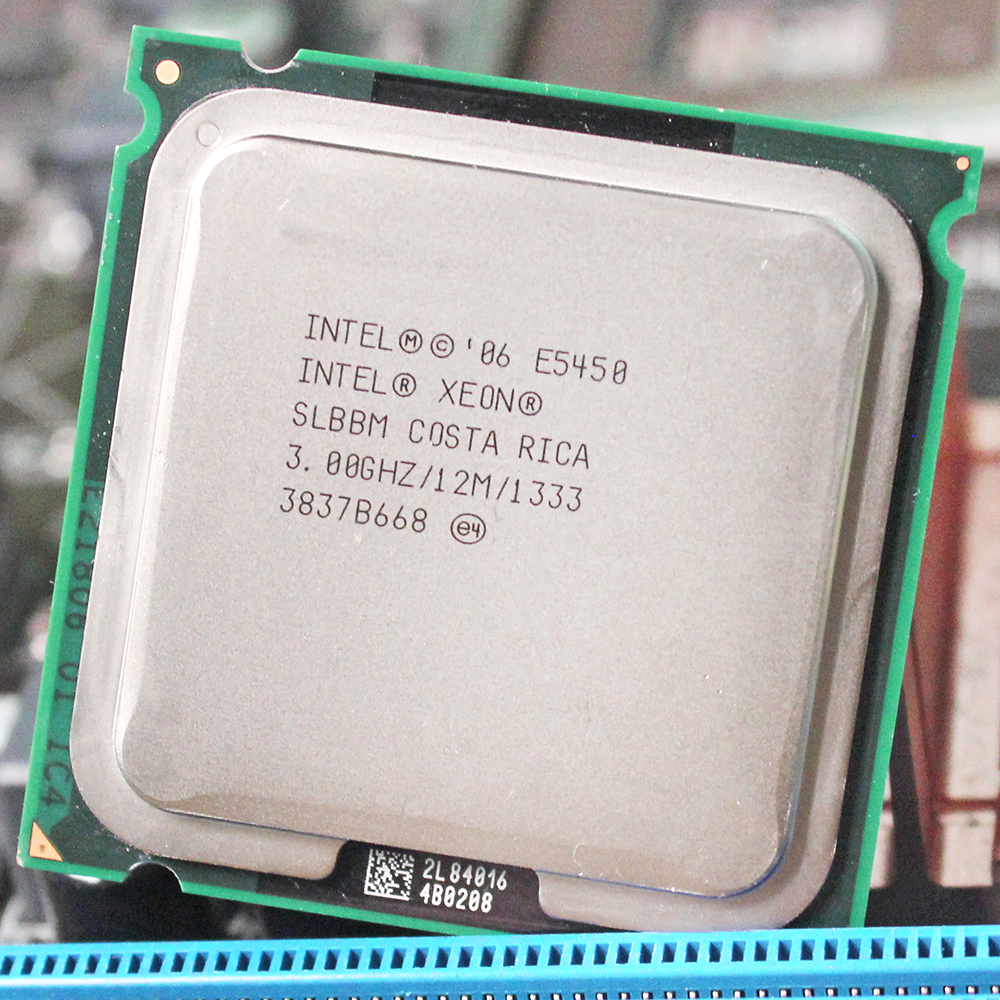 INTEL XEON E5450 cpu intel E5450 processeur quad core 4 core 3.0 MHZ LeveL2 12 M Travail sur 775 carte mère