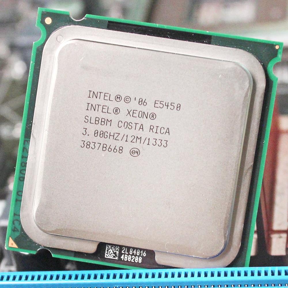INTEL XEON E5450 cpu intel E5450 processeur quad core 4 core 3.0 MHZ LeveL2 12 M Travail sur LGA 775 carte mère