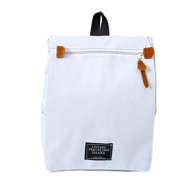 Women S Leisure Canvas Solid Zipper Bag Shoulder Bookbags Satchel Travel Bucket Bags