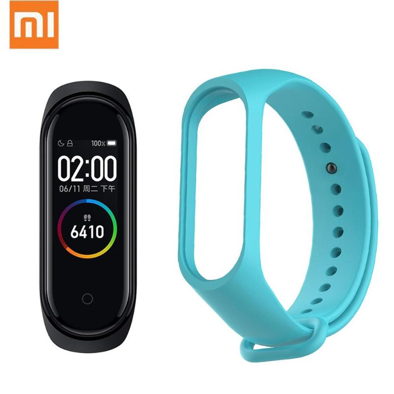 Xiaomi Mi Band 4 5ATM Smart Wristband w/ Replacement Band Waterproof Bracelet Heart Rate Monitor Color Screen Fitness Tracker
