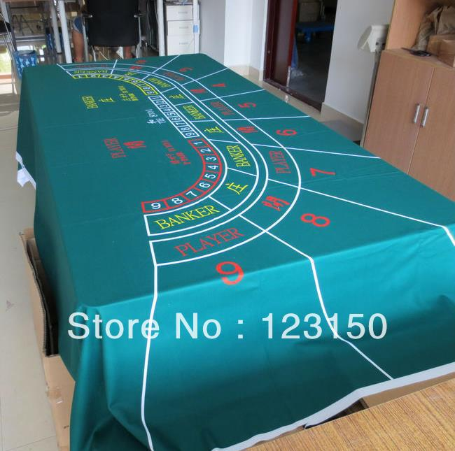 WP-011  Professional Water Resistant Poker Table Cloth,  Casino Layout Game Cloth 1PC