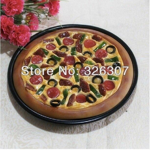Plat artificiel boudin-pipe boeuf pizza modèle décoration Simulation modèle plat saucisse pizza faux restaurant plats échantillon spectacle