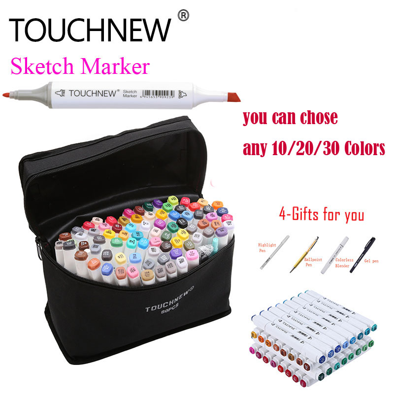 TOUCHNEW 168 Colors Artist Painting Manga Art Marker Pen Head Alcohol Art Sketch Graffiti Fineliner Markers Set Markers Designer 0 4mm 24 colors art marker pen fine draw point 88 fineliner pens painting pencils children pens no tox drawing marker sketch