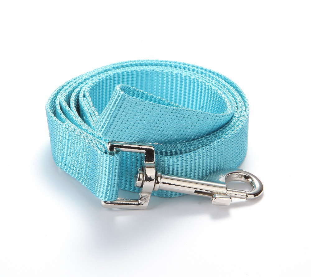 Wholesale 12pcs/lot Strong Nylon Dog Leash Leads Matching to All Soft Air Mesh Dog Harnesses Mixed Colors Free Shipping