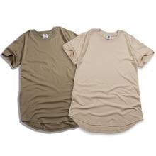 fashion solid Arc cut short Eur size hip hop tshirts men pure color  clothes mens clothing streetwear jogging